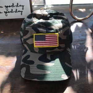 Camo American Flag adjustable cap/ hat NWT!